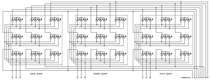 Светодиодный rgb куб 8х8х8 своими руками схема